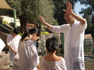 イスラエルチーム洗礼式